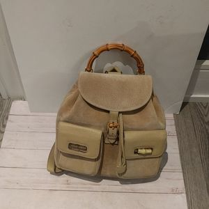 Beautiful backpack seude leather backpack by Gucci